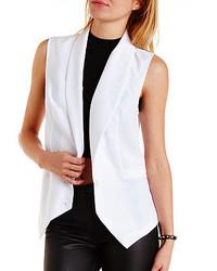 Charlotte Russe Lace Back Tuxedo Vest