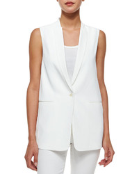 J Brand Ready To Wear Padella Single Button Vest White