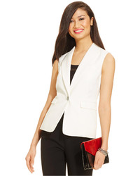 Nine West Sleeveless One Button Vest