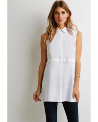 Forever 21 Contemporary Longline Side Slit Shirt