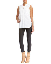 Rachel Roy Double Layer Poplin Shirt