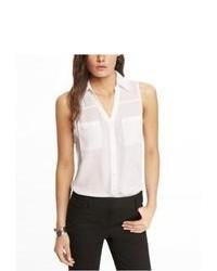 Express Sleeveless Portofino Shirt White X Large