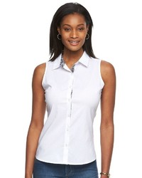 Harve Benard Button Down Sleeveless Shirt