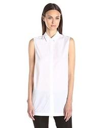 Helmut Lang Lawn Sleeveless Button Down Shirt