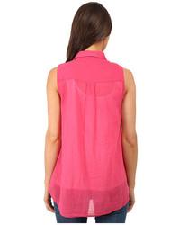 127f90be18ff9 ... DKNY Jeans Cotton Gauze Sleeveless Boyfriend Shirt ...