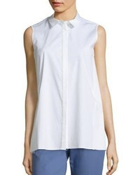 Lafayette 148 New York Kelsi Sleeveless Shirt