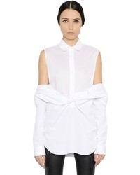 Maison Margiela Layered Cotton Poplin Shirt
