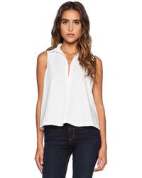 Michael Stars Michl Stars Sleeveless Button Up Crop Shirt