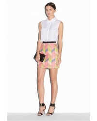 Milly Poplin Crop Sleeveless Shirt