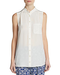 Nieves Lavi Sleeveless Silk Blouse