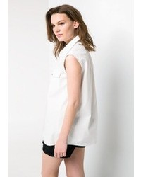 Mango Outlet Frayed Edge Shirt