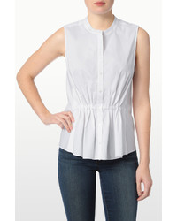 NYDJ Pleat Front Sleeveless Shirt