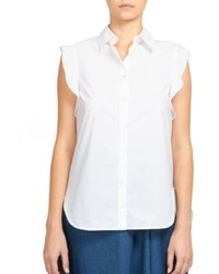 Stella McCartney Ruffle Button Down Shirt
