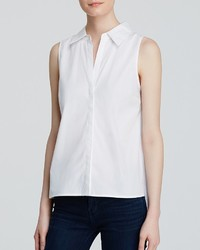 Aqua Shirt Sleeveless Button Down