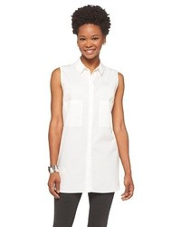 Mossimo Sleeveless Blouse White