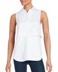 Proenza Schouler Sleeveless Button Down Popover Shirt