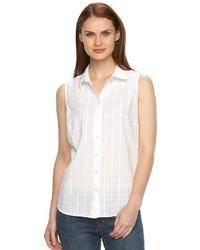 croft & barrow Sleeveless Button Down Shirt