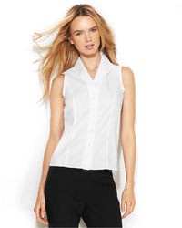 Calvin Klein Sleeveless Button Front Shirt