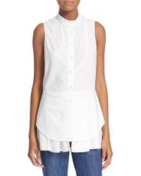 Derek Lam 10 Crosby Sleeveless Cotton Shirt