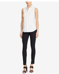 Lauren Ralph Lauren Sleeveless Cotton Shirt