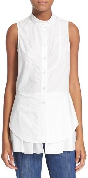 1d50343e3ee43f ... Button Down Shirts Derek Lam 10 Crosby Sleeveless Cotton Shirt ...