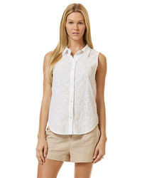 C&C California Sleeveless Eyelet Shirt