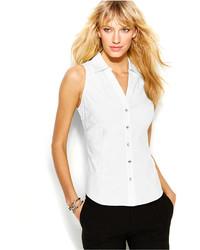 INC International Concepts Sleeveless Rhinestone Button Shirt