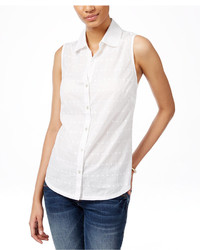 Karen Scott Sleeveless Shirt Only At Macys