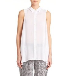 DKNY Swingy Sleeveless Blouse