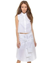Alexander Wang T By Poplin Cropped Boxy Shirt