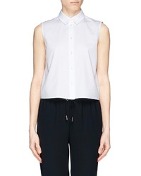 Alexander Wang T By Sleeveless Cotton Poplin Shirt