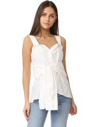 Derek Lam 10 Crosby Tie Front Sleeveless Top