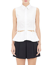 Alexander Wang Waist Tie Sleeveless Shirt White Size 0