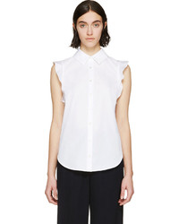 Stella McCartney White Ruffled Leona Blouse
