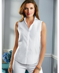 d1ff2d8b801d ... Talbots Wrinkle Resistant Sleeveless Shirt ...