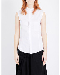 Y's Ys Sleeveless Stretch Cotton Top