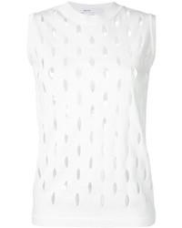 Perforated detail sleeveless top medium 3668161