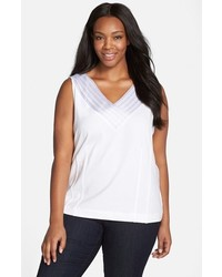 Plus size sweet pleat sleeveless top medium 1162286