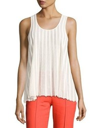 Diane von Furstenberg Sleeveless Ribbed Top White