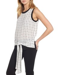 Sleeveless tie front top medium 5209107