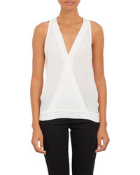 Nili Lotan Sleeveless V Neck Top