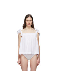 Le Petit Trou White Bows Detail Top