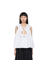 Tricot Comme des Garcons White Frill Collar Blouse