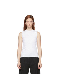 Coperni White Patchwork Embroidered Tank Top