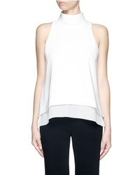Elizabeth and James Everly Mock Neck Crepe Vest