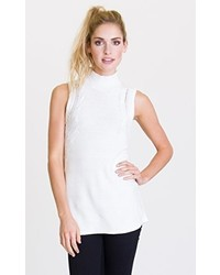 RVCA Juniors Down Low Tunic Sleeveless Turtle Neck Sweater