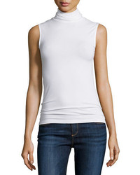 Neiman Marcus Majestic Paris For Soft Touch Sleeveless Stretch Turtleneck