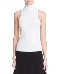 A.L.C. Mirella Ribbed Sleeveless Turtleneck Top