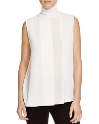 Vince Rib Panel Sleeveless Turtleneck Top