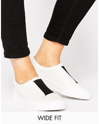 Asos Daisy May Wide Fit Slip On Sneakers